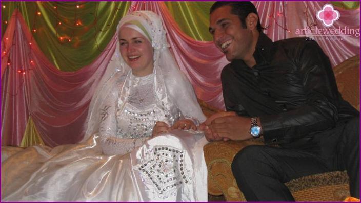 Ring exchange at an Egyptian wedding
