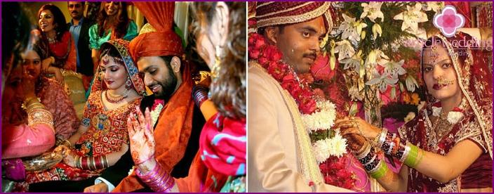 Die Schönheit einer indischen Hochzeit