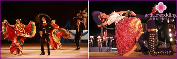 Mexican wedding accompanied by ritual dance