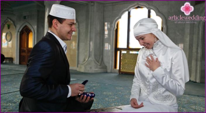 Engaged Tatar newlyweds
