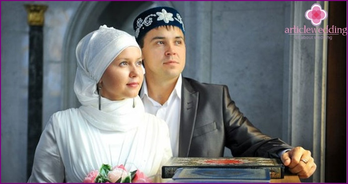 Tatar outfits of the newlyweds