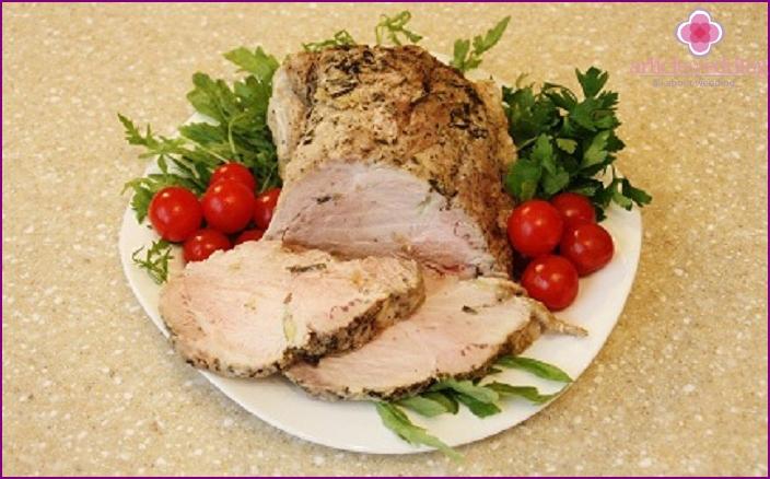 Pork rosemary ham for wedding menu