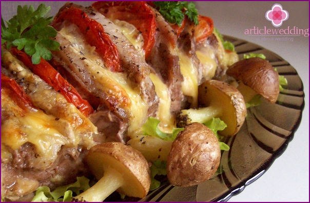 Oven-cooked pork