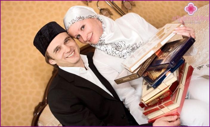 Tatar newlyweds at a wedding