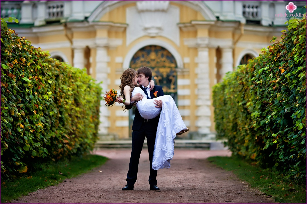 Kuskovo manor for a wedding walk