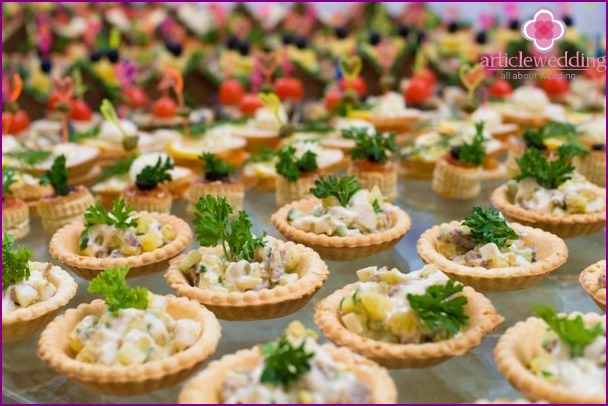 Tartlets for appetizers