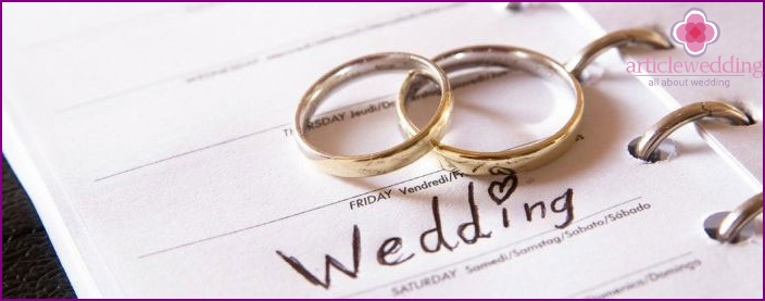 Favorable days for marriage