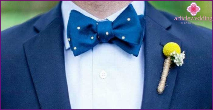 Butterfly - a symbol of frivolity of the groom