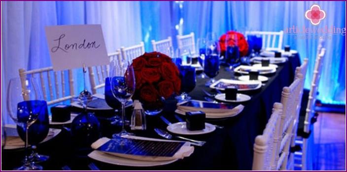 Sapphire wedding venue decoration
