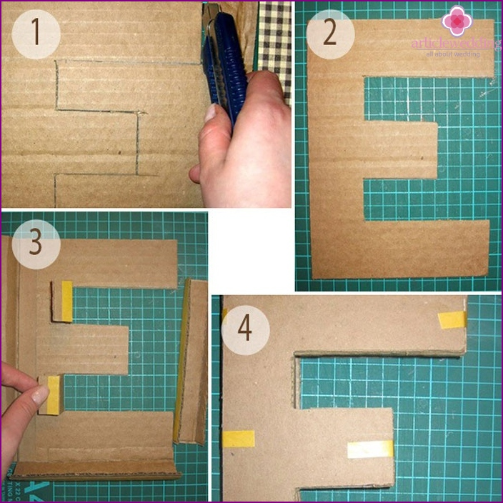 Create volumetric cardboard letters on your own