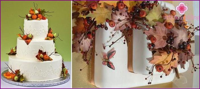 Cake for the autumn wedding