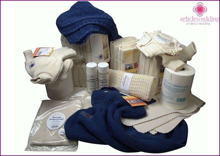 Set of diapers for the competition of the cast iron anniversary
