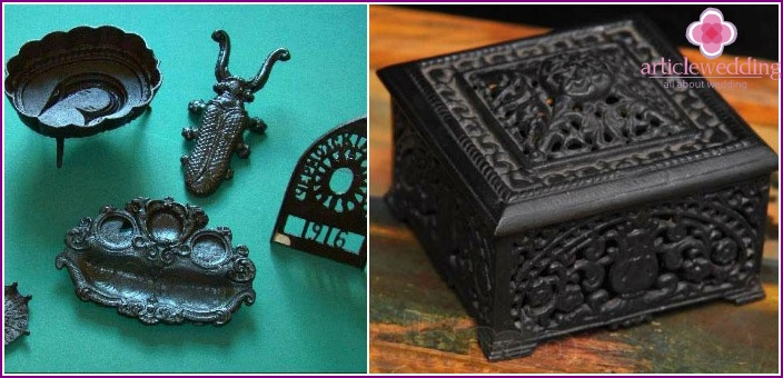 Examples of cast iron wedding gifts