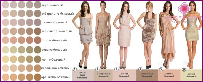 Examples of beige dress for mom of the groom