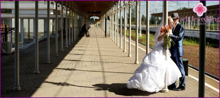 Redemption of the bride in the style of Russian Railways
