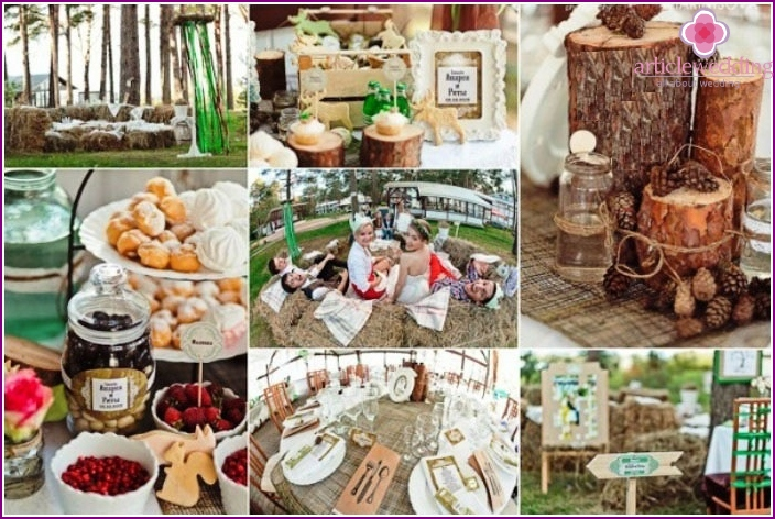 Rustic - the perfect solution for a linen anniversary