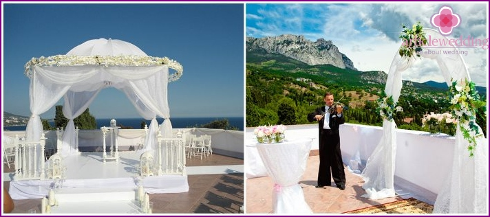 Wedding ceremony at Oneiro Villa