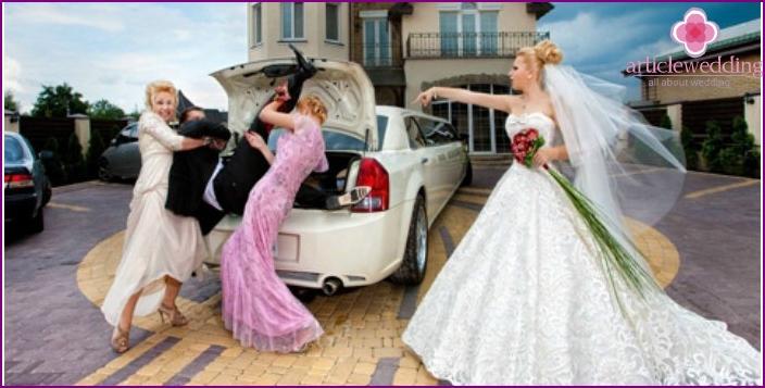 Erlösung der Braut im Stil eines Reisebüros