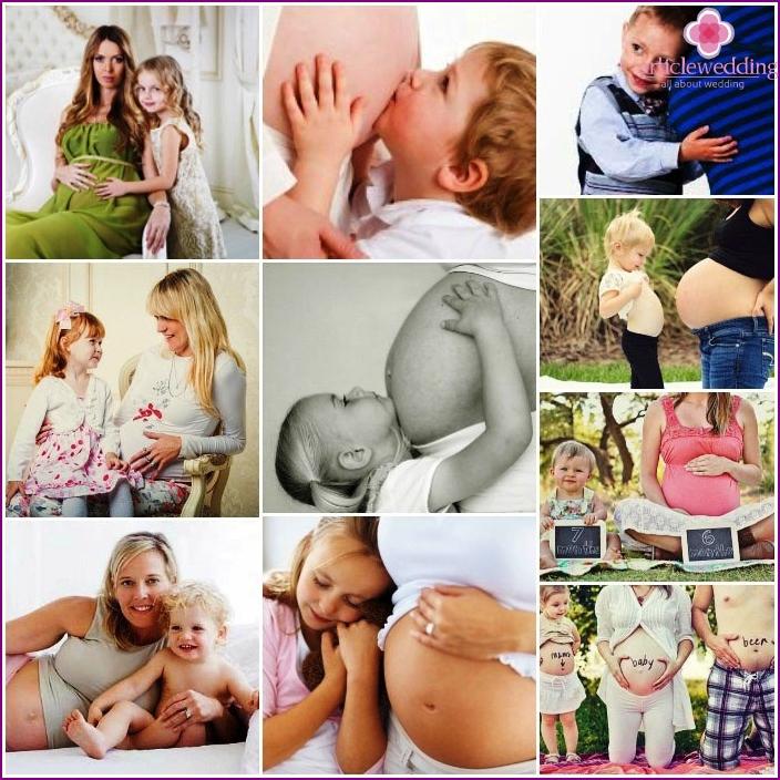 Photoset schwanger mit Kindern