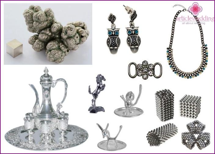 Nickelprodukte zum Hochzeitstag