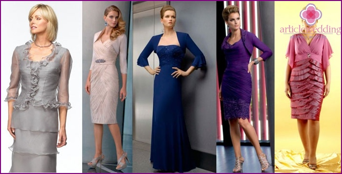 Fashionable colors of wedding dresses for mom of the groom