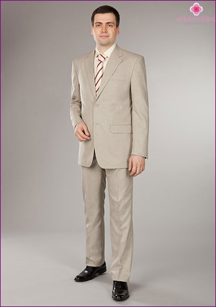 Summer wedding suit for men