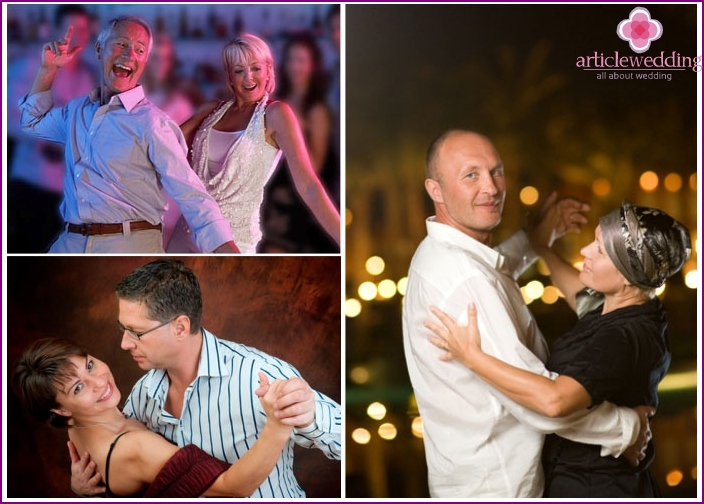 Tanzendes Paar am Nickelhochzeitstag.