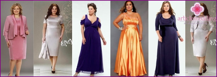 Styles for chubby mothers of the groom for a wedding