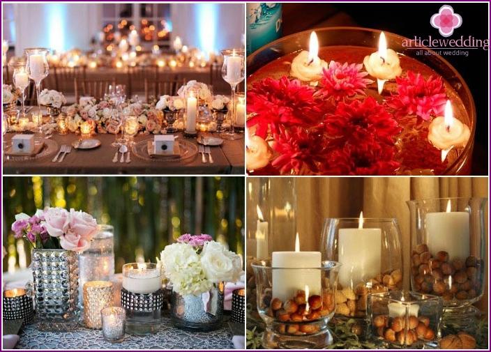 Candles - wedding table decor