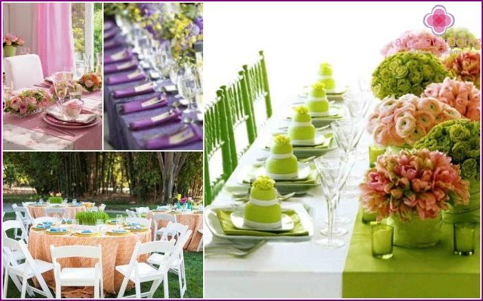 Banquet table linen