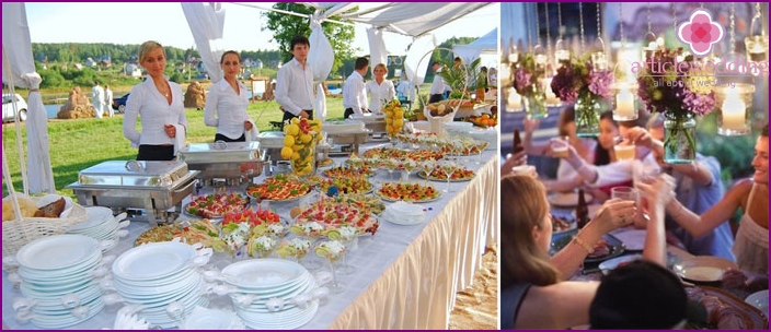 Professional registration of a buffet at a wedding without a banquet
