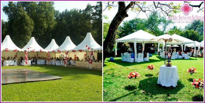 Wedding venue - restaurant park