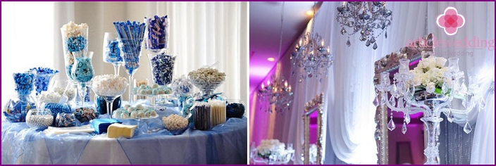 Winter style banquet hall decoration