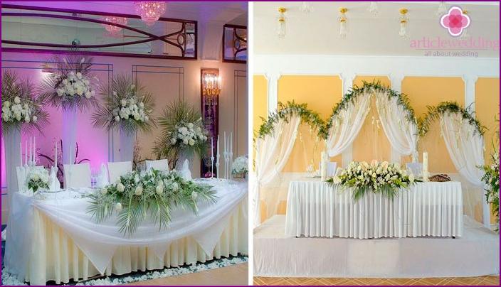 Honeymoon table floristry