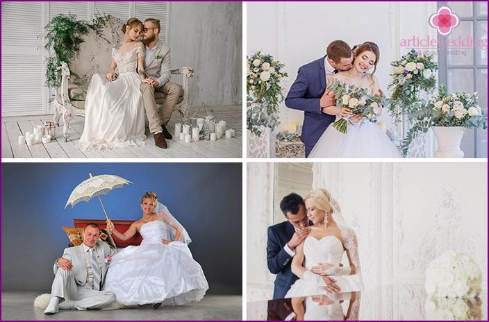 Newlyweds at a photo shoot