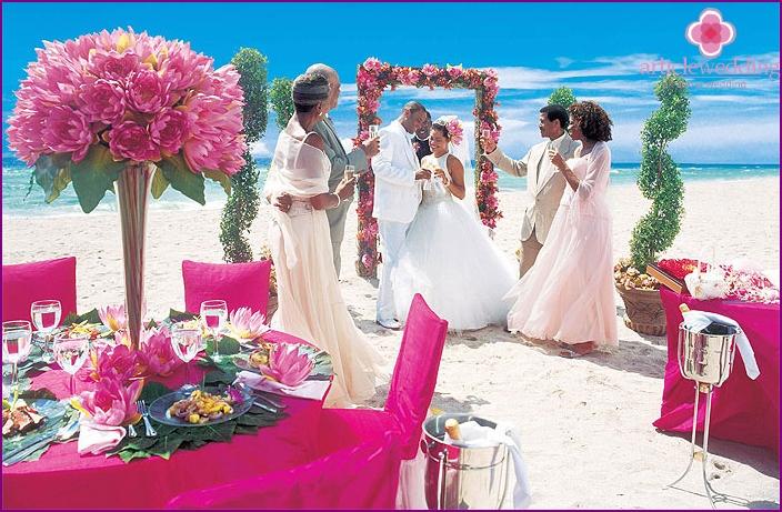 Hochzeitsfeier näher am Äquator