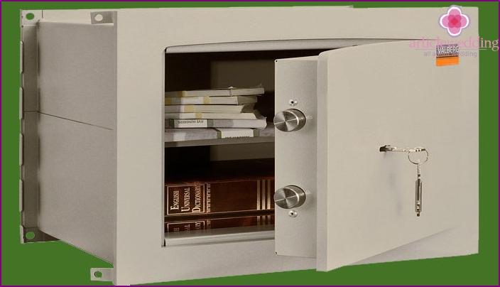 Safe deposit box for valuables