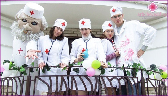 Costumes for ransom participants in the style of medicine