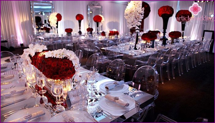 Features of wedding catering at the hotel