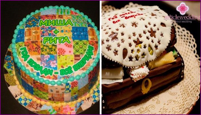 Kuchen für Chintz Hochzeit machen