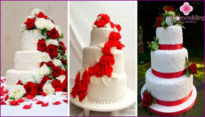 Ruby Wedding Anniversary Cakes