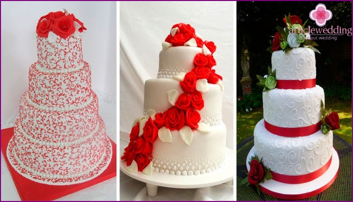 Red cake for the 100th wedding anniversary