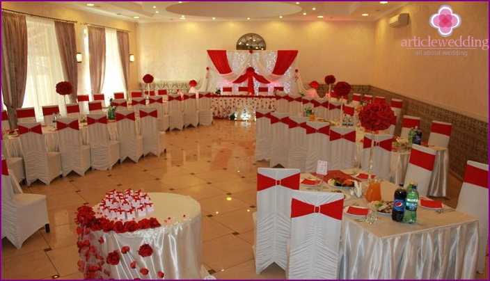 Hall decoration for the centenary of the wedding