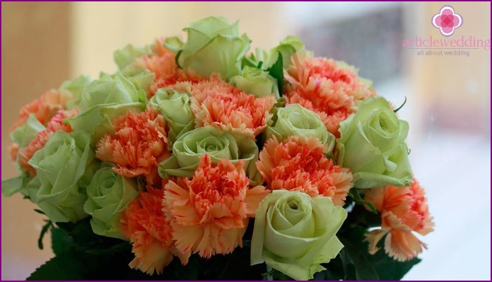 Bouquet for congratulations of blessed anniversaries