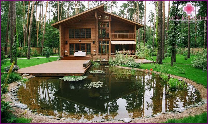 Country house for a honeymoon