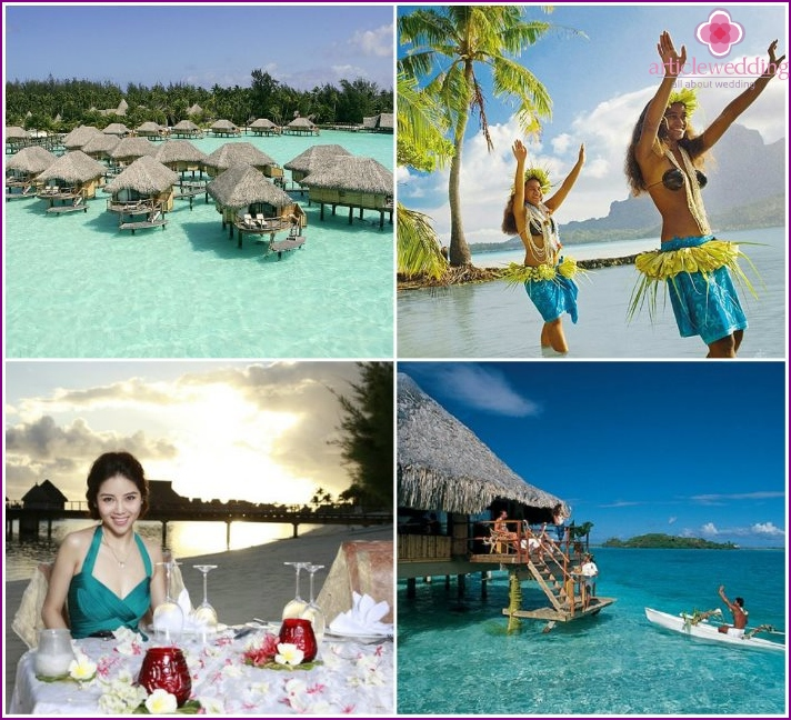 Bora Bora for newlyweds in August