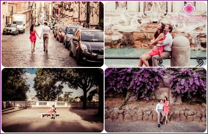 Rome for lovers in July