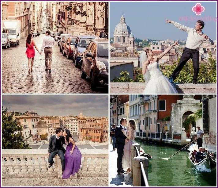 Honeymoon visit to Italy