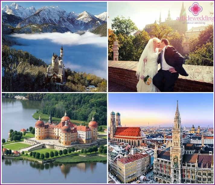A trip after a wedding in the cities of Germany
