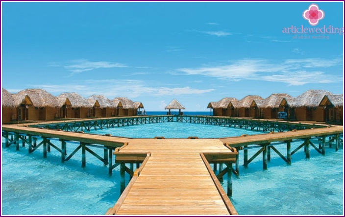 Maldives island of Fihalhohi for honeymoon